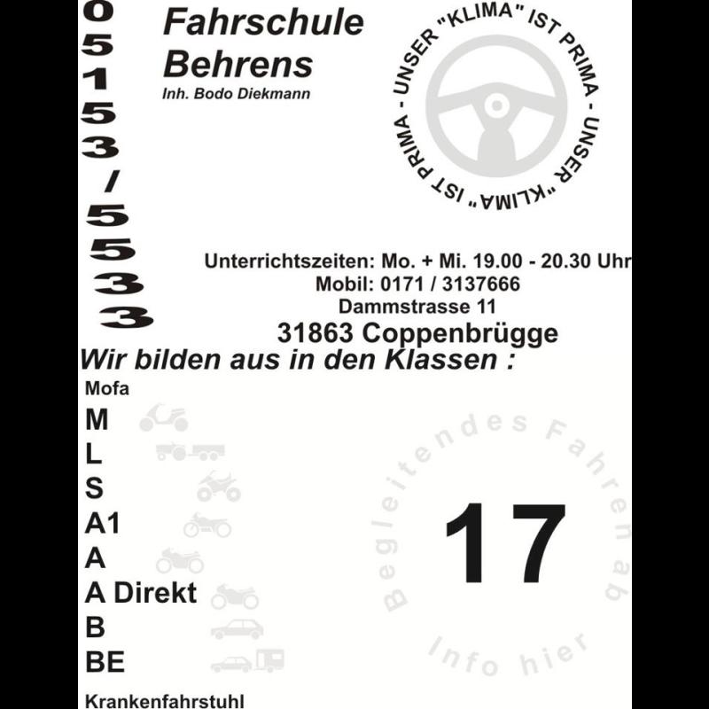 Logo: Fahrschule Behrens