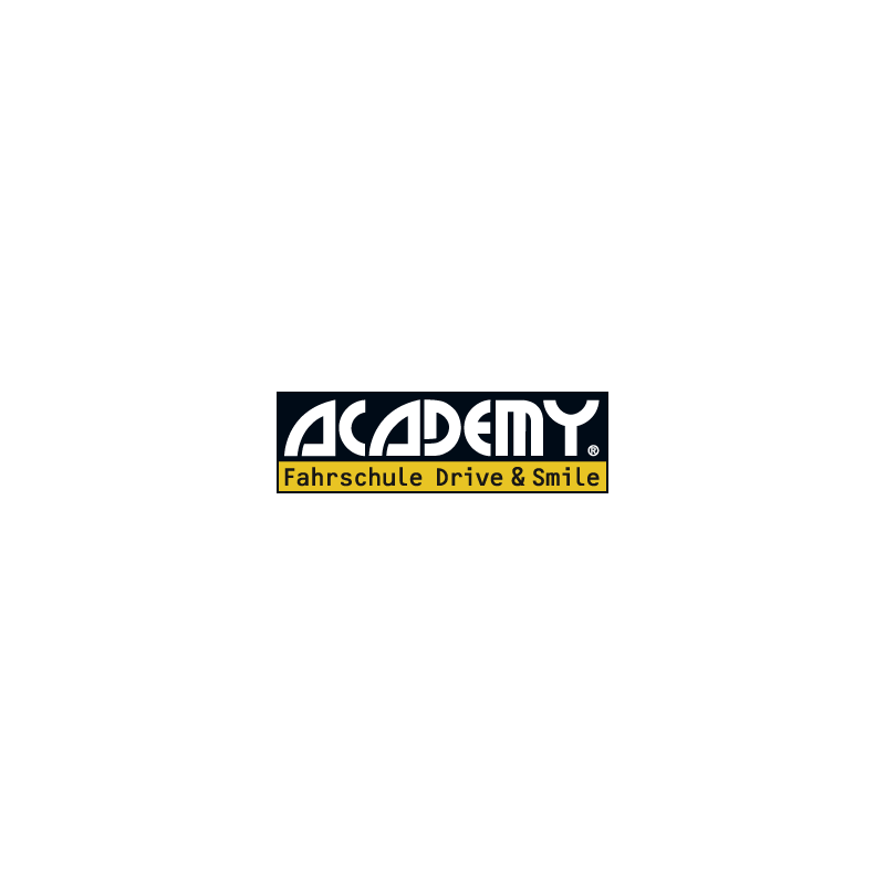 Logo: ACADEMY Fahrschule Drive and Smile